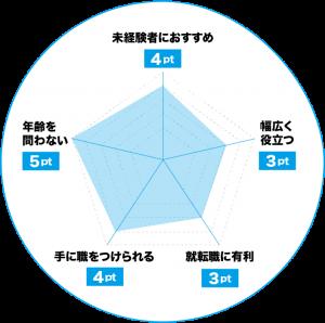 Webデザイナーのおすすめポイントチャート
