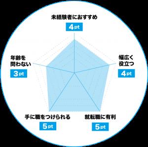 プログラミングのおすすめポイントチャート